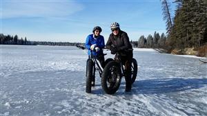 Bike Ride in Snow